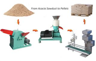 Acacia Wood Pellet Making